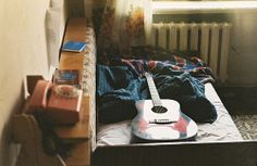 guitar, life, music, grunge, hipster, indie, room, bedroom, life, sy
