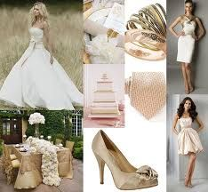Another idea for wedding colors: champagne and blush.