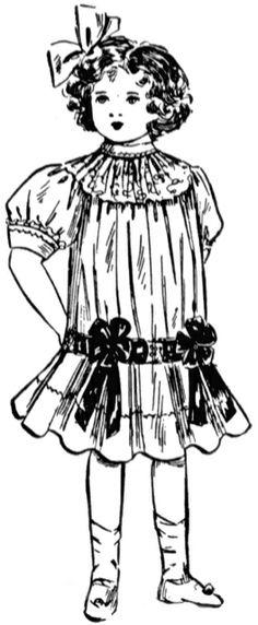 **FREE ViNTaGE DiGiTaL STaMPS**: FREE Digital Stamp - Cute Little Girl