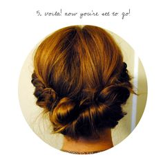 DIY Summer Up-Do!  I did this and got it on the first try.  Super easy and cute!