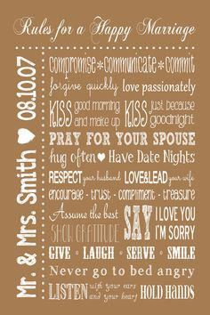marriage bedroom decor, marriage signs, sign printabl, master bedroom decorating, happi marriag, rules for a happy marriage, master bedrooms decor, wedding gifts, marriag sign