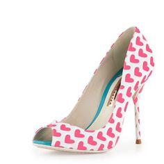 Sophia Webster Peron Hearts Peep Toe Pumps
