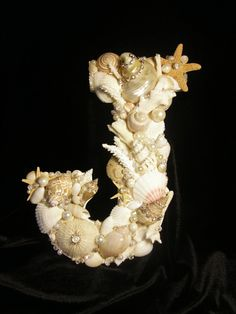 Seashell Letter  Beige/white themed  Letter J by seashellgalleria, $75.00