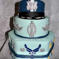 Air Force retirement cake.
