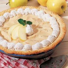 Maple Apple Cream Pie -- Taste of Home