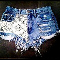 DIY ::Lace Shorts::