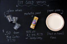 Oro DIY Sumergido Votives - Fix Decor