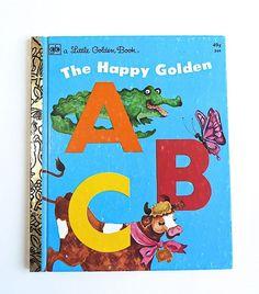 Vintage Little Golden Book  ABC's  Alphabet  Back by SunshineBooks