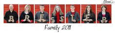 What a great way to have an individual and group photo of your family.