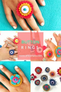 DIY Button Rings 10