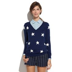 Starry sweater. LOVE.