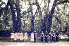 southern wedding party North Florida wedding