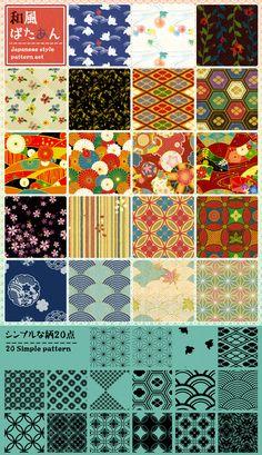 Japanese style pattern by gimei.deviantart.com on @deviantART