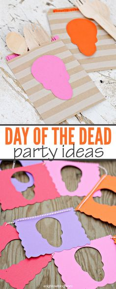 Day of the Dead Party Ideas with #pickyourplum kraft bags and twine