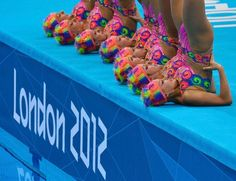 Team Canada shows off their synchro swimming style