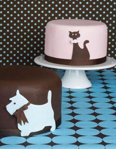 cat dog cake
