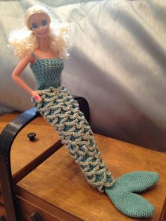 Keeping Mama Sanchez busy...: An uber-bling doll's mermaid dress for an uber-bling 30 year old girl =)