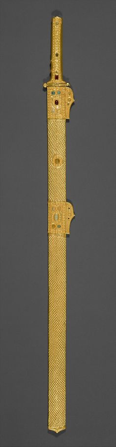 Sword and scabbard, ca. 7th century A.D. Iran. Sasanian. The Metropolitan Museum of Art, New York. Rogers Fund, 1965 (65.28a, b) #sword