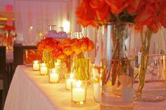 Beautiful contrast of orange with the white decor {El San Juan Resort & Casino, A Hilton Hotel}
