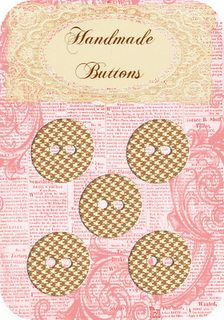 Free printable button cards :)