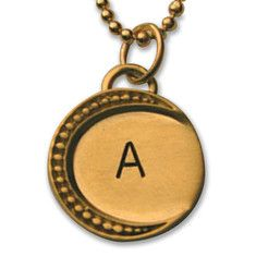 Crescent Initial Charm-Gold Vermeil: Our elegant and beautiful Crescent Initial Necklace is a lovely way to show off your favorite letter or letters #jewelry