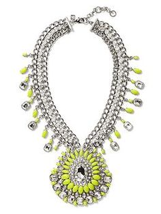 Banana Republic Acid Brights Statement Necklace statement necklaces, banana republic necklace