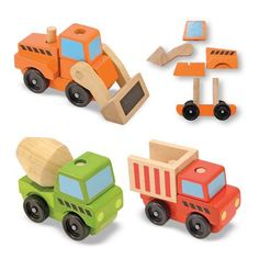 Construction vehicles new babies, new baby gifts, stack construct, toddler gifts, educational toys, construct vehicl, wooden toys, game, kids toys