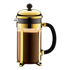 chambord 8cup, french press, gold bodum, cups, gold french, press coffeemak, bodum chambord, bodum french, 8cup gold