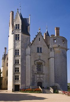 Chateau de Montreuil Bellay, Loire Valley, France.