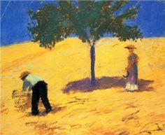 Treein the cornfield - August Macke
