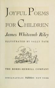 joyful poems for children - james whitcomb riley