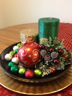 Christmas Tabletop, by Me