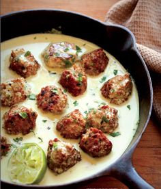 // Green Curry Turkey Meatballs