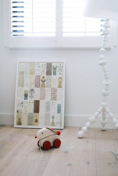 Art on the floor in children's rooms. Great idea- give them a chance to rearrange.
