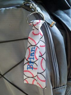 Personalized SPORTS Bag Tag Zipper Pull FULLY by aPageofCreativity, $5.00