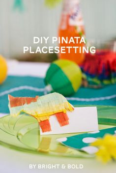 Cinco de Mayo Party Ideas: Donkey Piñata Place Settings
