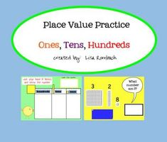 Place Value Practice Ones Tens Hundreds SmartBoard Lesson (.notebook file) **FREE**