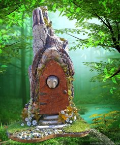 A mini mole inspired fairy house.