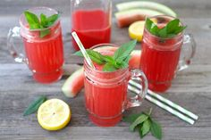 Watermelon Spritzers. They sound yummy during this heinous heat wave!