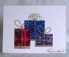 CAS200PARTYJ Gold Bows CKM christma card, memori box, box bow, die card, box card, card die, card christma, paper crafts, box die