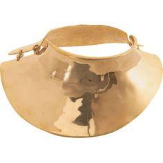 Bidermann Brass Breast Plate Necklace