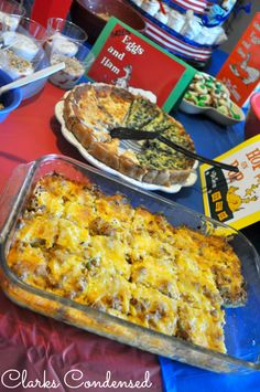 Easy Sausage and Egg Breakfast Casserole. One of my favorite foods to serve during the holidays!