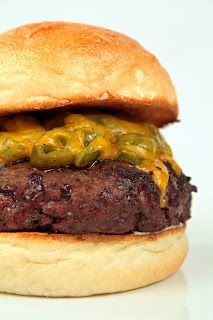 Southwestern Green Chile Cheesburger
