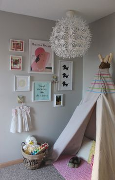 DIY No Sew Teepee in Nursery - #projectnursery