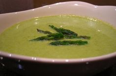 Slow Cooker Creamy Asparagus Soup - Love asparagus, you will love this soup!  www.getcrocked.com