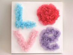 Tween Teen Girl wall decor LOVE Sign Fabric on by SweetestPie, $15.00