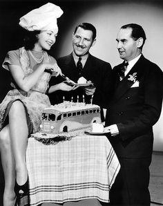 Bus Cake Greyhound publicity photograph 1941