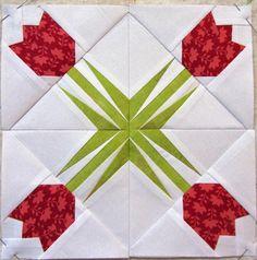 Twinkling Tulip paper pieced block
