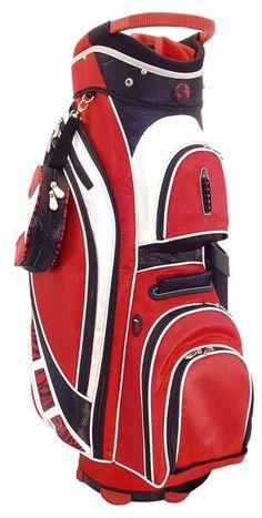 A perfect way to organize golf stuff, through Black & Red Zebra Hunter Ladies Genesis Cart Golf Bag! #golf #golfbags #lorisgolfshoppe