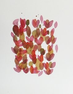 Roses Are Red: Original Abstract Painting Watercolor